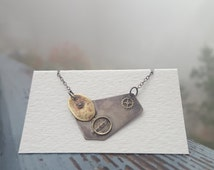 """Necklace """"Moon and Stars"""" by Sarah Zentz, Big Sur, CA 
