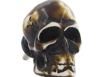 Dark Skull Knob Pull for Cabinets, Drawers, Dressers, Doors & Furniture - M59