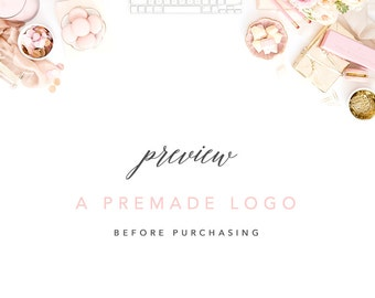 Preview a Premade Logo Before Purchasing