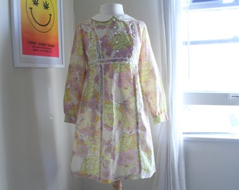 1960s Psychedelic babydoll dress