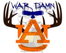 War Damn Eagle Auburn SVG