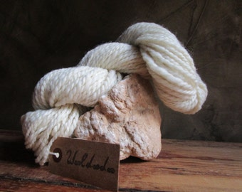 Wool spun by hand at the spinning wheel 'Nature'