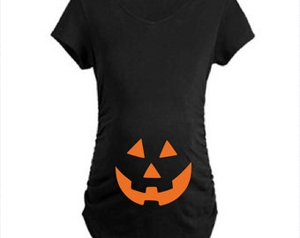 Halloween Pumpkin Pregnancy Shirt. Halloween Pregnancy Shirt. Pregnancy Halloween Costue. Pregnancy Announcement Shirt. Halloween pregnancy