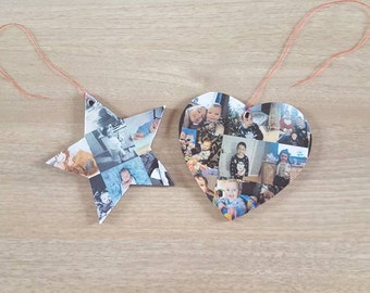 Wooden collage picture shapes