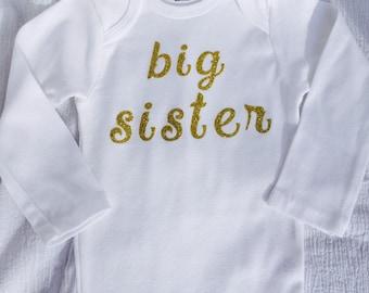 Big Sister Shirt, Big Sister onesie, Big Sister gift, Onesie for big sister, sibling shirts, Unique Onesies, personalized onesies, Onesies