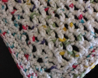 Baby Afghan, White Multicolored