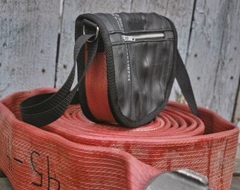 Shoulder Bag-Reclaimed Fire Hose-Inner Tube Bag-Recycled Bag