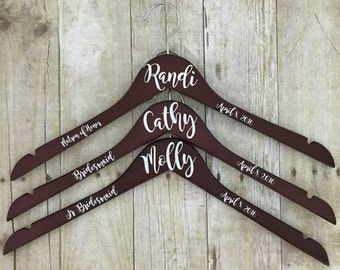 Custom Wedding Hanger, Dress Hanger, Hanger, Bridesmaids Gift, Bridesmaids Hanger, Gown Hanger, Bride, Bridesmaid, Hanger, Wedding Hanger