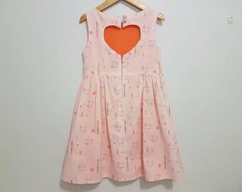 SOPHIA Heart Cut-out dress size 6