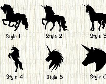 Unicorn Car Decal, Unicorn Decal, Unicorn Body Decal, Unicorn Head decal, Mythical Creature Decal, Girly Decal, Legendary Creature Decal