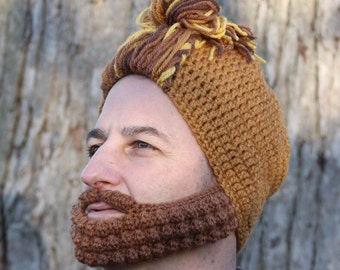 Crochet Hat for Him, Man Bun Hat, The Nashville