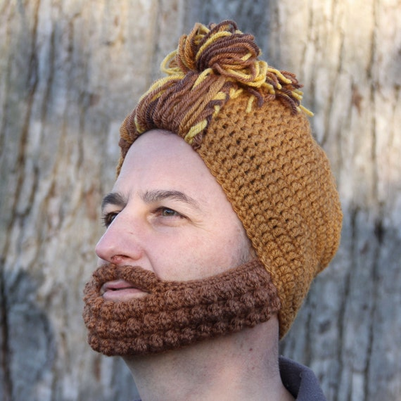 Crochet Bun Hat : Crochet Hat for Him, Man Bun Hat, The Nashville