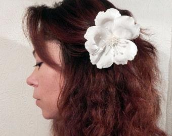 Cherry flower hair, flower Ivory, Wedding hair accessory, Flower Hair