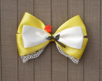 Disney Inspired Belle Hair Bow