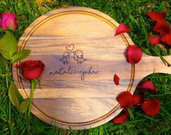 Couple Kitchenware - Personalised Chopping Board / Cheeseboard - Kitchenware, Anniversary, Wedding, Housewarmings, Birthdays, Engagement