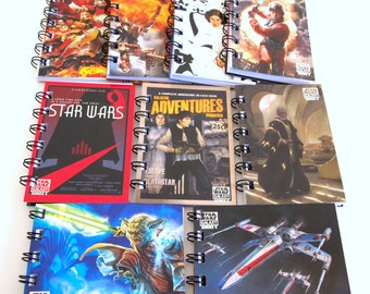 15 Star Wars Party Favors - Star Wars Birthday Party - Star Wars Notebooks - Star Wars Notepads - Star Wars Favors - Recycled Trade Cards