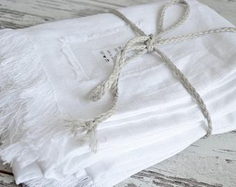 Linen Throw blanket - Linen throw blanket with fringe /  without fringe - Softened rough linen blanket - Summer blanket