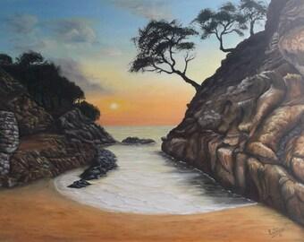 Sunset - Original oil painting / Sunset - Original oil painting