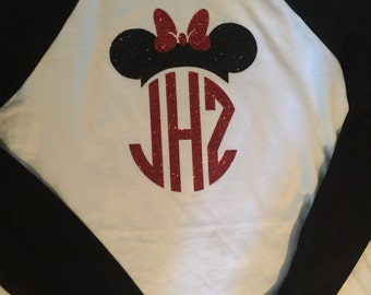 Monogrammed Minnie Mouse shirt