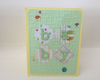 Baby card, Welcome Baby card, Hello Baby card