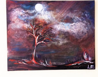 Dark Days acrylic painting on canvas original