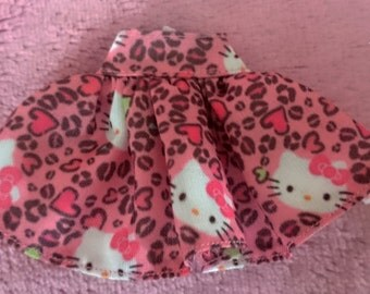 Hello Kitty Cheetah Skirt for Pullip, Blythe and Slim MSD Dolls
