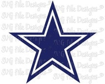 Dallas Cowboys Texas NFL Football Logo Design Cutting File in Svg, Eps, Dxf, Png, and Jpeg Format for Cricut and Silhouette
