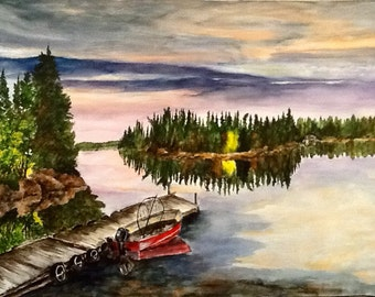 Ready to Fish - Original Watercolor