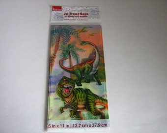 20 Ct. Dinosaur Treat Bags Kids Goodie Bags Birthday Cello Bags Kids Party Treat Bags Loot Bags Party Favor Bags Gift Bags