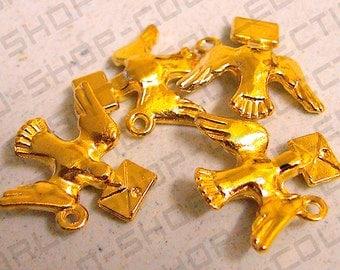 20mm Peaceful Dove Pendant ,Alloy Gold Color,