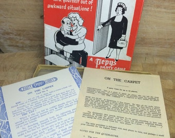 1960s game - sixties party game - kitsch game  - sixties toys - Pepys game