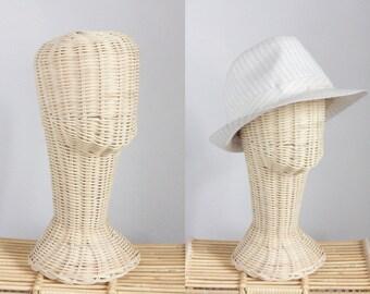 Mannequin Head Wicker Rattan Head Wig Stand Handcraft Antique Display Handmade