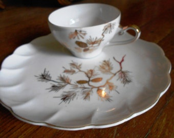 Beautiful vintage tea cup with tea cake saucer...FREE SHIPPING