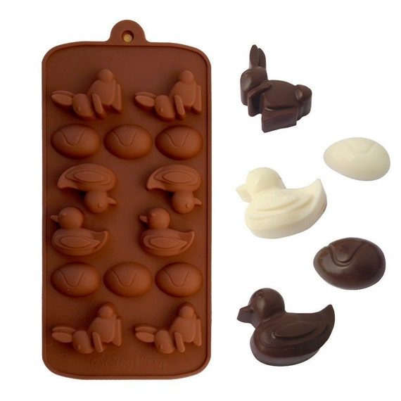 42 Best Dck Chocolate Molds Images On Pinterest: Rabbit Eggs And Duck Easter Silicone DIY Mold To Make Soap