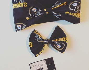 Steelers Headband & Bow