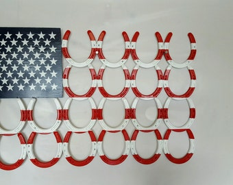 Horseshoe American Flag