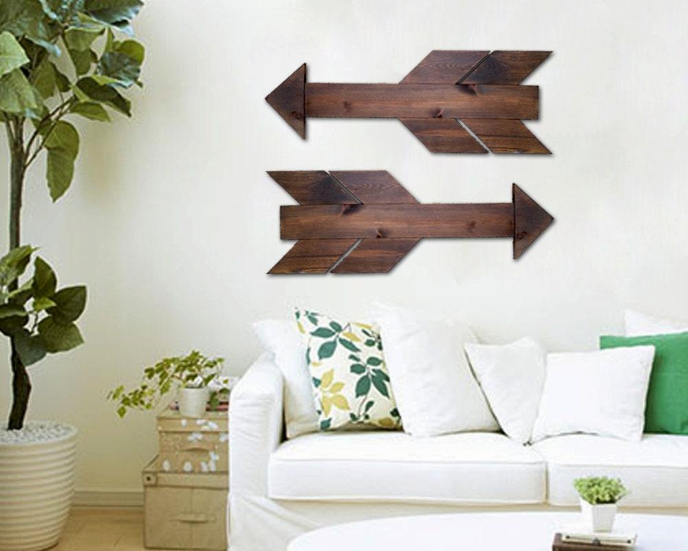 Wall Decor Wooden Arrows : Wooden arrow wall art decor rustic