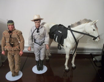 Lone Ranger, Tonto, Silver and more Dolls