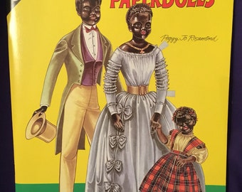Antique Black Paper Dolls 1991 by Peggy Jo Rosamund