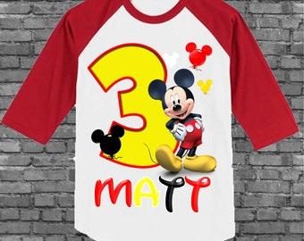 Mickey Mouse Birthday Shirt - Mickey Birthday Shirt - Mickey Mouse Clubhouse Shirt