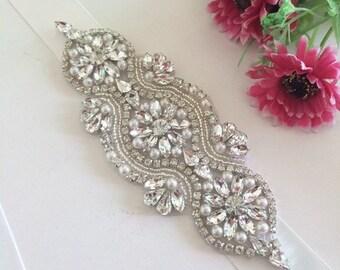 Bridal Sash, Bridal Belt, Wedding Sash, Bridesmaid Belt, Crystal Sash, Rhinestone Belt, Wedding Dress Sash, Wedding Dress Belt 60