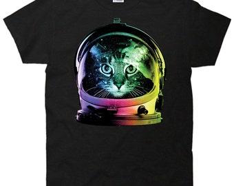 Space Cat Astronaut T-Shirt