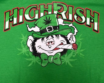 Funny Highrish Weed Pot Smoking T-Shirt