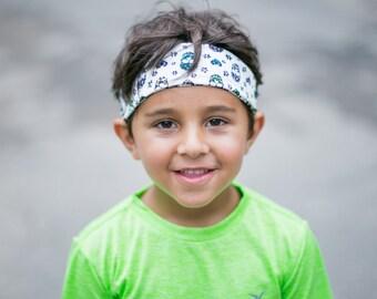 Boy sport headband, child, toddler, tween, teens soccer, basketball, baseball, biking, karate, martial arts, workout, fitness, gymnastics