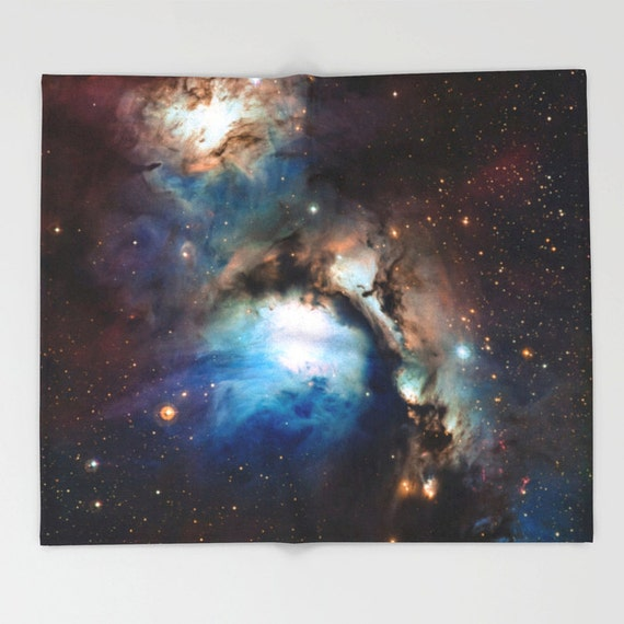 Nebula throw blanket outer space decor home decor for Decor outer space