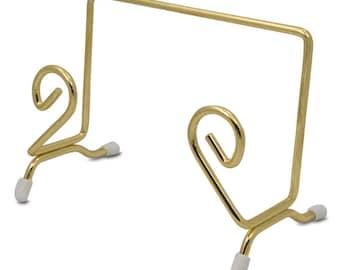 "4.75"" x 1.5"" Gold Tone Metal Easel Stand Display Holder- SKU # st-85"