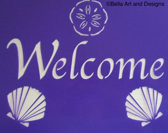 """Assorted """"Welcome"""" stencils *Free gift with every order*"""