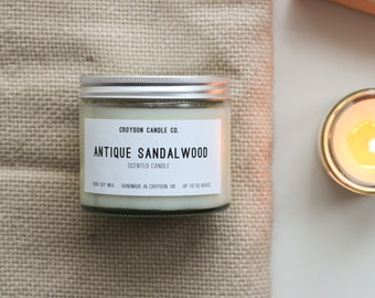 ANTIQUE SANDALWOOD  Soy Jar Candle