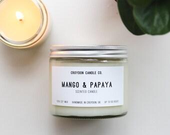 MANGO & PAPAYA Soy Jar Candle