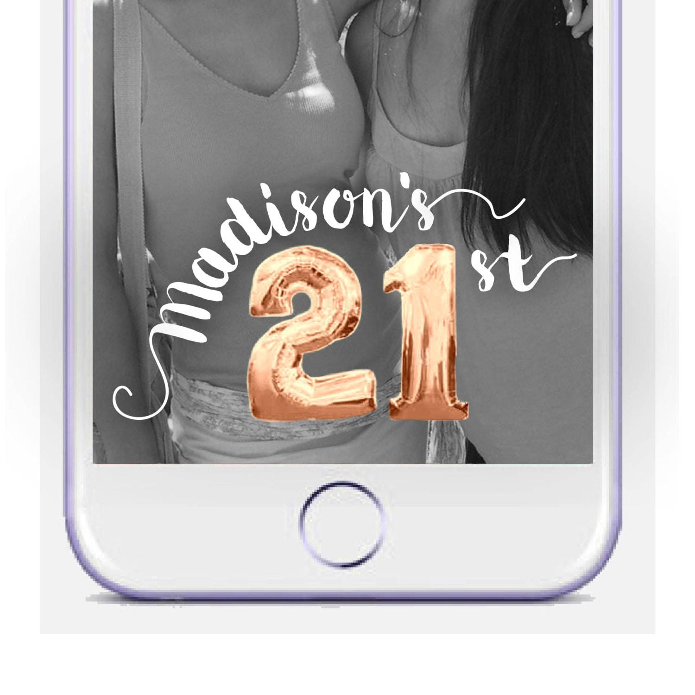 21st Birthday Snapchat Geofilter Mylar Balloon Snapchat On